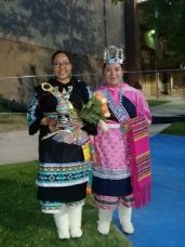 Contestant for Miss Indian World, Best Dancer Winner Tyra Quetawaki (Zuni), Miss Indian NMHU Jerika Lemetino (Zuni)