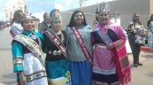 (lt-rt) Miss Indian NAU Kiana Estate (Zuni/Hopi), Miss Blue Mountain (Navajo), Miss Miccosukee, Miss Indian NMHU Jerika Lementino (Zuni)