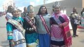 (lt-rt) Miss Indian NAU Kiana Estate (Zuni/Hopi), Miss Blue Mountain (Navajo), Miss Miccosukee, Miss Indian NMHU Jerika Lementino (Zuni)