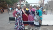 (lt-rt) Miss Cuba High School Cerone Otero (Navajo), Miss Indian NM Janessa Bowekaty (Zuni), Miss Indian NMHU Jerika Lementino (Zuni), Miss Indian NAU Kiana Estate (Zuni/Hopi)