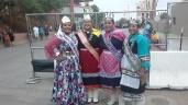 (lt-rt) Miss Cuba High School Cerone Otero (Navajo), Miss Indian NM Janessa Bowekaty (Zuni), Miss Indian NMHU Jerika Lementino (Zuni), Miss Indian NAU Kiana Estate (Zuni/Hopi)
